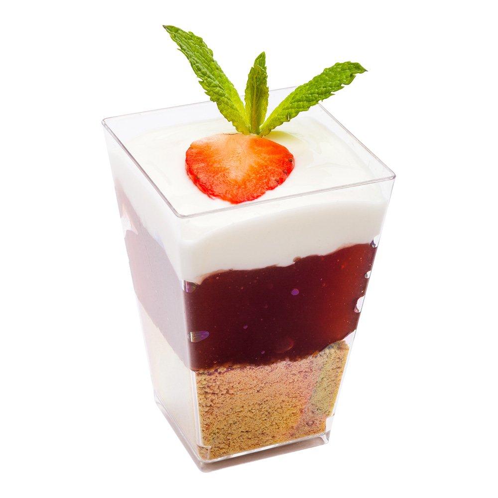 Kova Dessert Tumbler Cup, Elegant Dessert Cup - Clear Plastic - 3.7 Ounce - Disposable - 320ct Box - Restaurantware