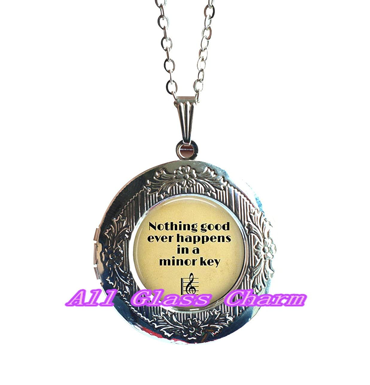 Nothing Good Ever Happens in a Minor Key Music Jewelry Gift for Musician,AS0279