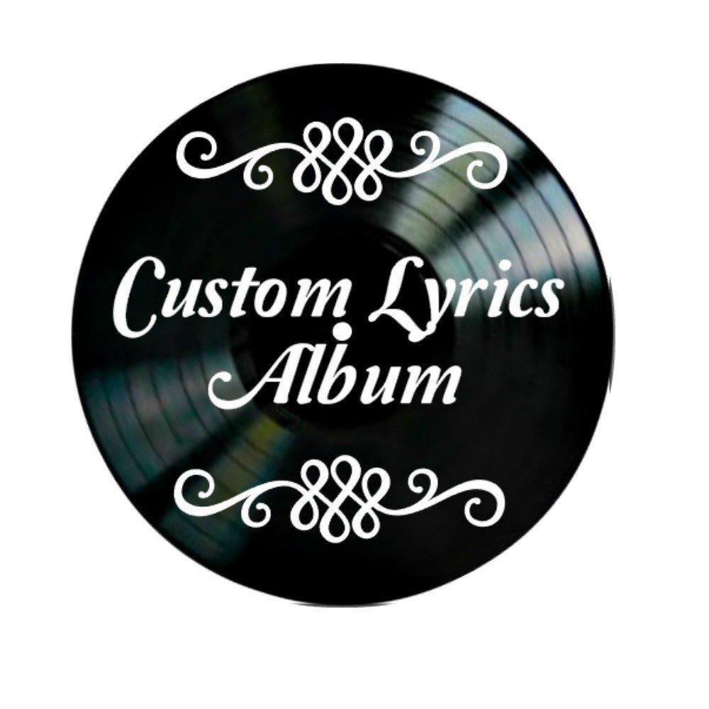 Vinyl Record Wall Art with Custom Lyrics
