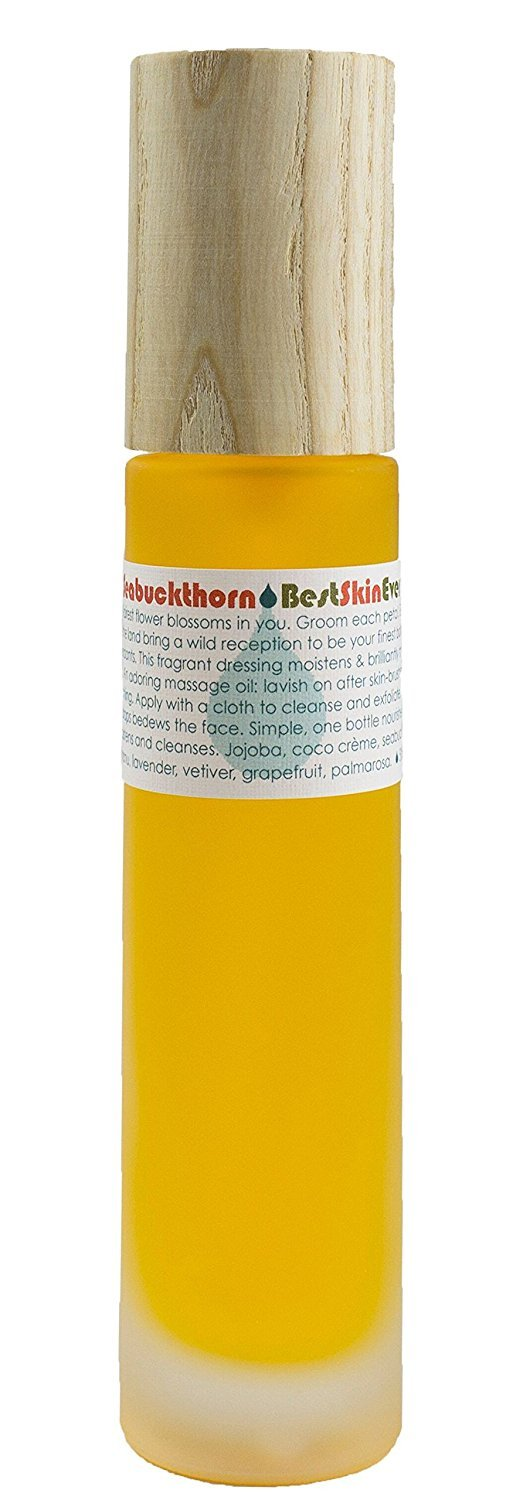 Living Libations - Organic/Wildcrafted Best Skin Ever: Seabuckthorn Facial Cleansing Oil + Moisturizer (1 oz/30 ml)