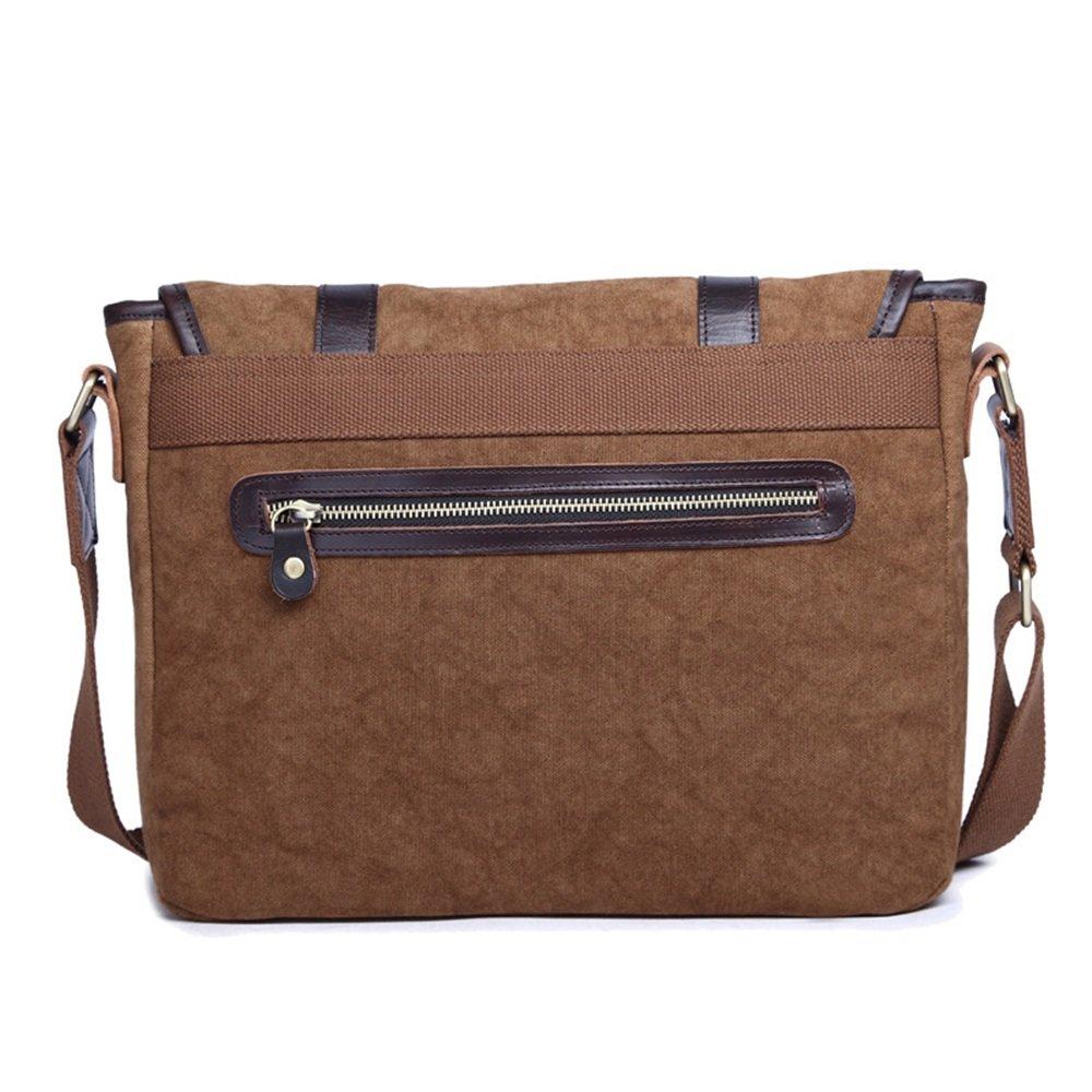 Color : Blue Mens Messenger Bag Office Canvas Retro European Style Briefcase Shoulder Messenger Crossbody Satchel Casual Bag Holder for Man Business