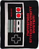 "BIOWORLD Nintendo Retro NES Controller Throw Blanket, 48"" x 60"""