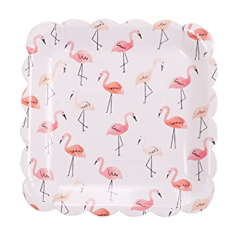 Geeklife Paper Dessert Plates with Cute Pink Swan Design  9 inch Paper Party Plates   sc 1 st  Amazon.com & Amazon.com: Geeklife Paper Dessert Plates with Cute Pink Swan Design ...