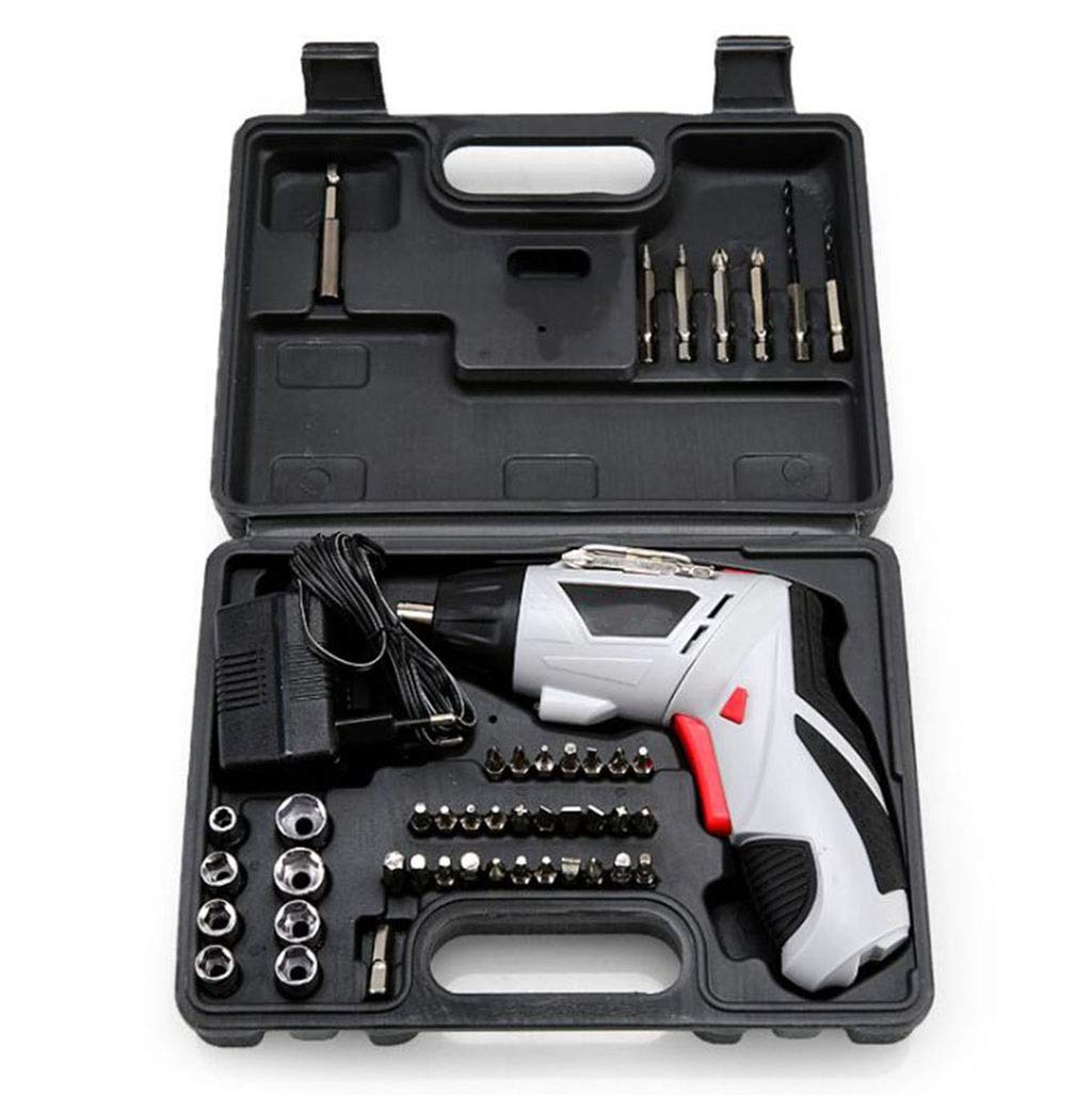 GHGJU Electric Screwdriver Multi-Function Electric Drill Rechargeable Hand Drill Portable Impact Drill Tool Set Suitable for Family Tools by GHGJU