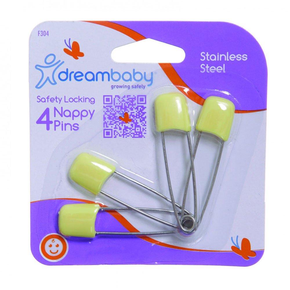 Dreambaby Nappy Pins Safety Locking (4 Pack)