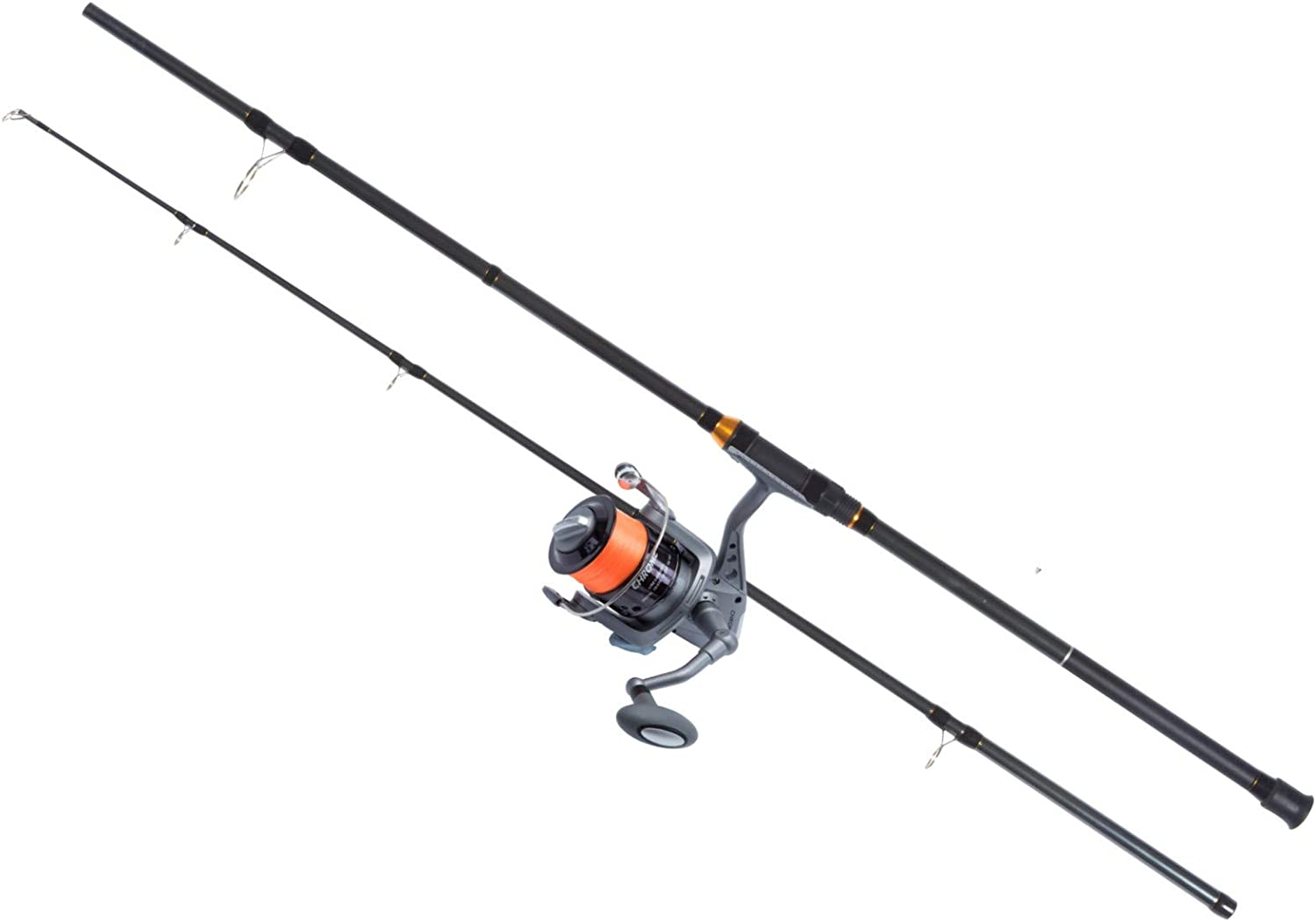 Fishzone MACKEREL & BASS SEA SPIN COMBO 9'2.7m 80g 2 Piece Marine Rod with THUNDER series size 60 Front Drag Spin Reel pre loaded with 15lb Line