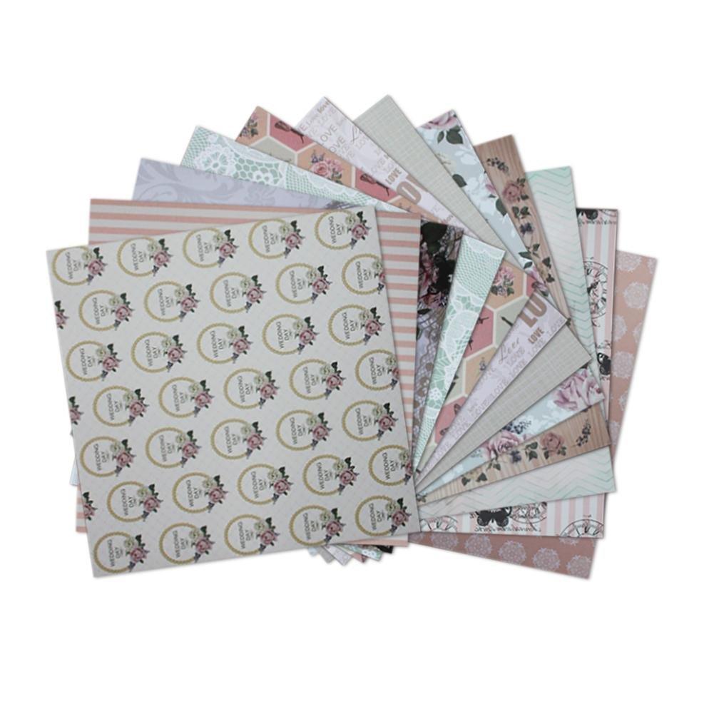 15,2 24 Blatt Scrapbooking Papier Gemustertes Karton Bastelpapier mit Vintage Design f/ür DIY Handwerk Foto Hintergrund Deko Gr/ö/ße 6,0 in 15,2 cm//6,0