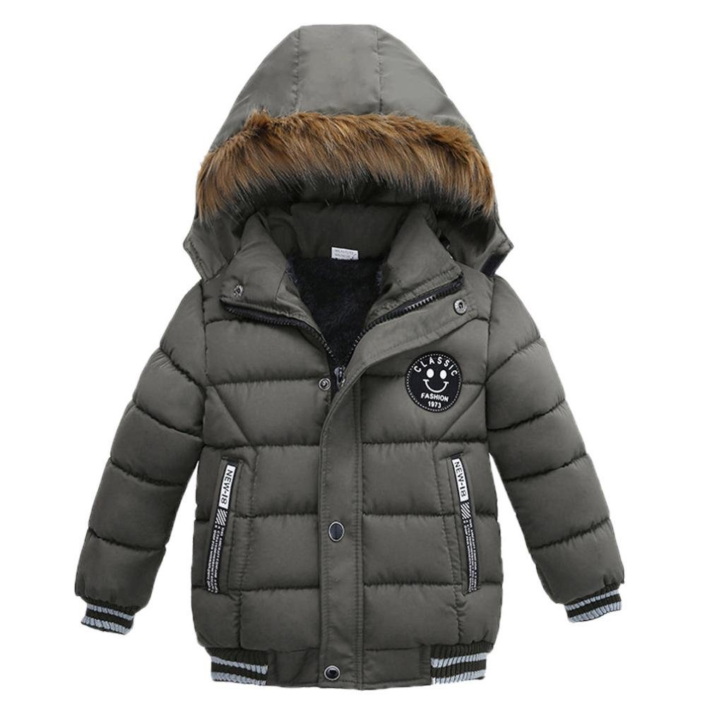 87348332491d Janly Coats for 1-5 Years Old Baby Jacket for Boys Thick Hooded Cotton-padded  Clothes Coat Kids Jacket Children Outerwear  Amazon.co.uk  Sports   Outdoors
