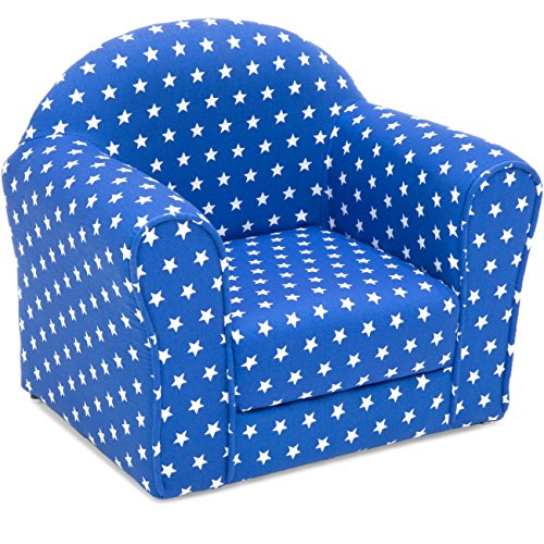 Best Choice Products Kids Star Patterned Chair Seat w/Armrests - Blue -