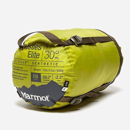 Amazon.com   Marmot Trestles Elite 30 Sleeping Bag Left Handed Citronelle  Fir Green   Sports   Outdoors af623c82f