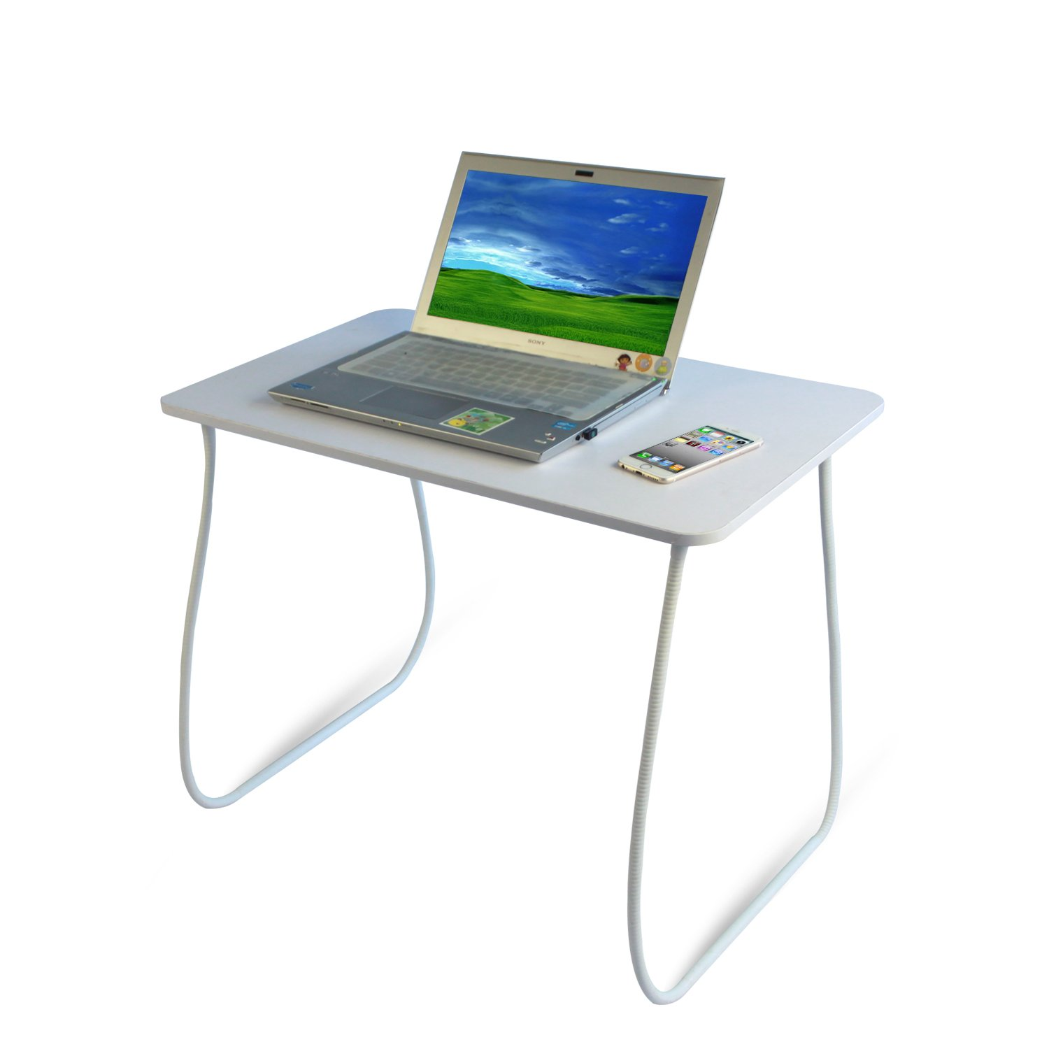 RXMOO Adjustable Standing Table Sitting Stand Desk Mulifunction Removable Computer Laptop Working Table (White)