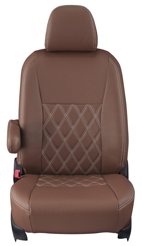 クラッツィオ シートカバー タント/タントカスタム LA600S/LA610S Clazzio ダイヤ ブラウン×アイボリーステッチ ED-6515 B01BS3R7AS ブラウン×アイボリーステッチ ブラウン×アイボリーステッチ