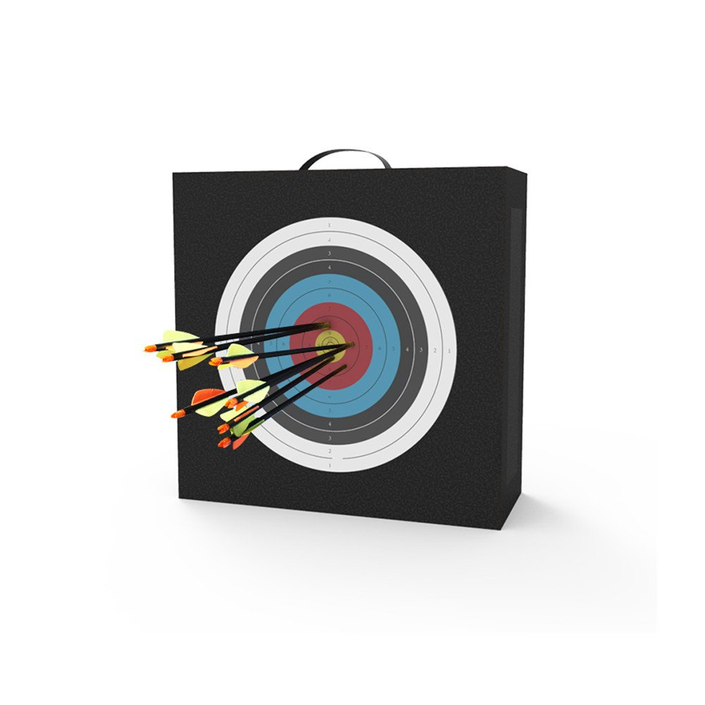 Popshot(TM) Archery 50x50x20cm Self Healing EVA Foam Target with Printing Bullseye Target Face Portable Practice Shooting Target Bag