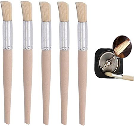Caff/è Brush Cleaner Macchina Pennello Caffe Spazzola per caff/è in legno Spazzola caff/è utensili di pulizia con il cucchiaio 5 Pezzi per Pulizia della Polvere di Caff/è