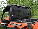 SuperATV Polaris General / General 4 Seater Rear Windshield - Dark Tinted, Standard