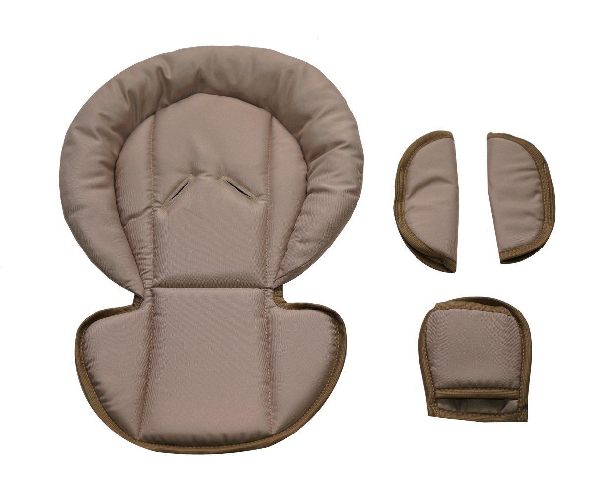Sitzverkleinerer mit Gurtpolster | Universal-Set mit Kopfschutz & Sitzverkleinerer & Gurtpolster für jede Babyschale | atmungsaktiv & waschbar | Schonbezug 100% Baumwolle, Design:füchse (Beige) Design:füchse (Beige) Babylandia