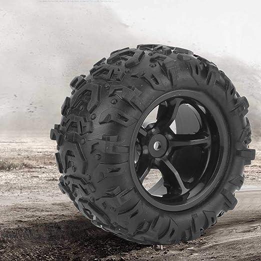 Zouminy ?????? 2 Stück Rc Reifen Rc Lkw Reifen Rad Reifen Mit Nabe Für 9300 9302 1 18 Modellauto Küche Haushalt