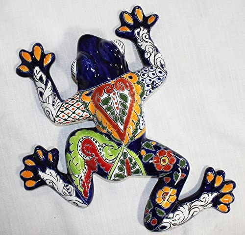 Talavera Medium Wall Frog – 15 W X 15.5 L Blue Body