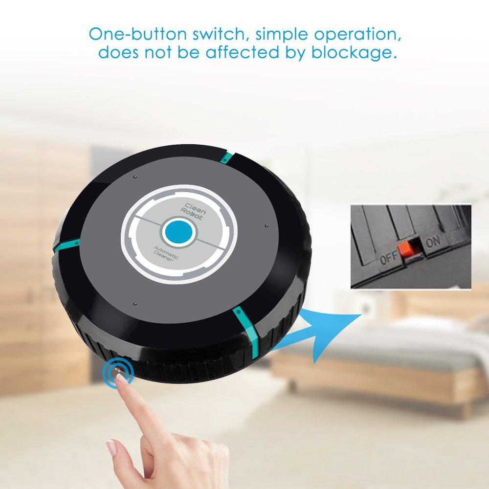 OWSOO Robot de Barrido Smart Automático para Hogar Barredor del Limpiador Papel Cabello Polvo: Amazon.es: Bricolaje y herramientas