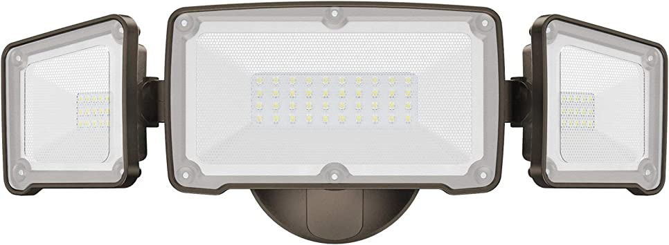 LEPOWER 4500LM LED Flood Light Outdoor 5000K IP65 Waterproof Patio Yard Durable Metal Switch Controlled LED Security Light 3 Adjustable Heads for Garage 45W Super Bright Exterior Flood Lights