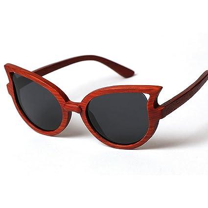 Lentes planos espejados Marco de madera hecho a mano de clase alta gafas de sol polarizadas