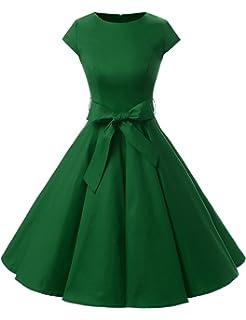 9a993b5a7c7df Dressystar Women Vintage 1950s Retro Rockabilly Prom Dresses Cap-Sleeve