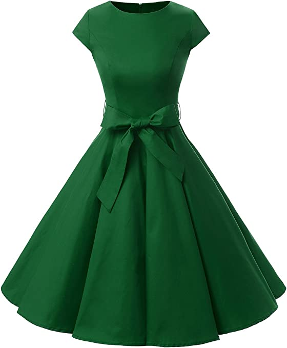 Women Vintage 1950s Retro Rockabilly Prom Dress