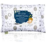 Toddler Pillow with Pillowcase - 13X18 Soft Organic Cotton Baby Pillows for Sleeping - Machine Washable - Toddlers, Kids, Boy