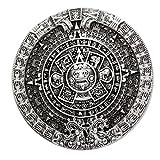 Men Antique Silver Aztec Mayan Indian Detailed Calendar Mask Western Belt Buckle