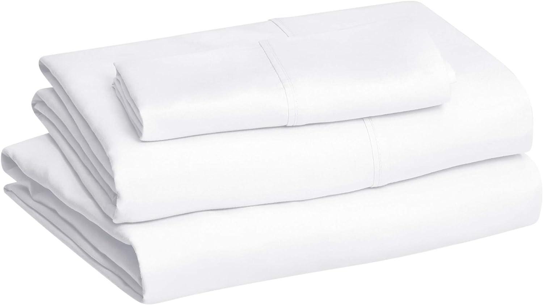 Twin XL Bright White Basics Light-Weight Microfiber Sheet Set