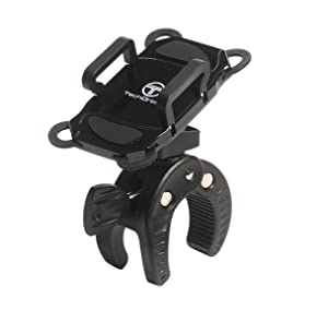 TechOrbits Universal Mount Cell Phone Holder Cradle for Bicycle Motorcycle Handlebar for iPhone 6/7 / 8 Samsung Galaxy LG HTC and More