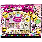 Kids Nail Polish - Gift Set for Girls 5, 6, 7, 8, 9, 10 Years Old - Non Toxic Emoji Nail Art Manicure and Pedicure Kit
