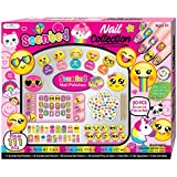 SmitCo LLC Kids Nail Polish - Non Toxic Emoji Nail Art Manicure and Pedicure Kit With Scented Stickers, Peel-Off Nail Polish and More For Hours of Fun - Gifts Set for Girls 6 Years and Older