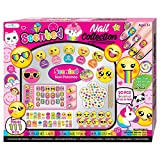 Kids Nail Polish - Gift Set for Girls 5, 6, 7, 8, 9, 10 Years Old - Non Toxic Emoji Nail Art Manicure and Pedicure Kit