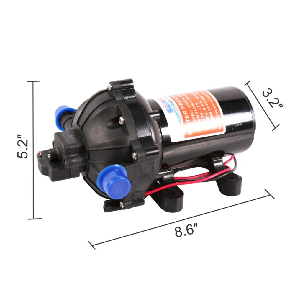 RoyalsTool 12V DC Water Diaphragm Pump For Yacht RV Caravan Boat Dust Control spraying pesticides 20L/min 5.5Gpm