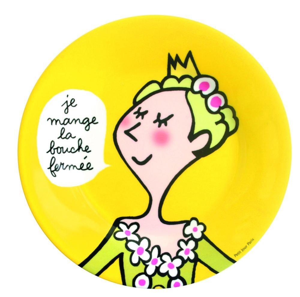 Assiette Princesse enfant La bouche ferm/ée Petit Jour Paris