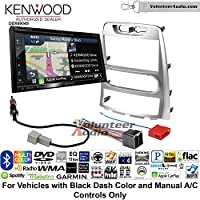 Volunteer Audio Kenwood Excelon DNX694S Double Din Radio Install Kit with GPS Navigation System Android Auto Apple CarPlay Fits 2009-2012 Hyundai Genesis (Silver) (Manual A/C controls)
