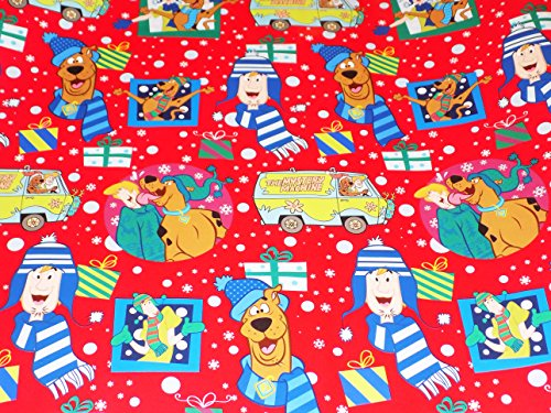 Scooby Doo Christmas Gift Wrapping Paper Wrap 20 sq ft