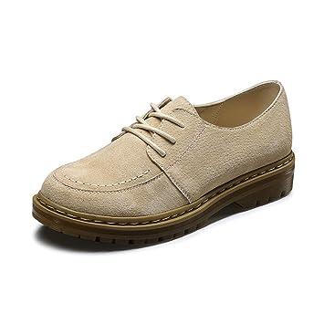 LIANGJUN Zapatos De Mujer Plano Botines Tacones Bajos Primavera, 6 Tamaños, 3 Colores Disponibles (Color : Beige, Tamaño : EU35=UK4=L:225mm): Amazon.es: ...