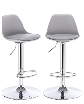 KAYELLES tabourets de bar cuisine design SIG - lot de 2 chaises de bar  réglable ( d83e4ed6868e
