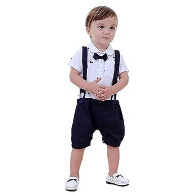 Yasson Baby Jungen Bekleidungsset Sommer Strampler Little Gentleman