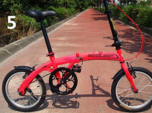 16インチ 折りたたみ自転車 折畳自転車 おりたたみ自転車 MTB おりたたみ自転車W345 B00QA15IM8 レッド レッド
