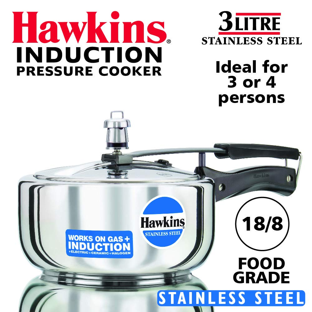 Hawkins Stainless Steel 3.0 Litre Pressure Cooker by A&J Distributors, Inc. product image