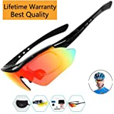 Sports Sunglasses For Men Women Cycling Glasses Polarized Baseball Running Fishing Driving Golf With 5 Interchangeable Lenses