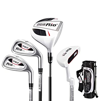 pgm Junior - Juego de palos de golf, Edad 6 - 8 (110 - 130 ...