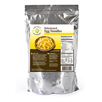 Legacy Essentials Dehydrated Egg Noodles Bulk Long Shelf Life Emergency Survival Pasta - Great  sc 1 st  Amazon.com & Amazon.com : Legacy Essentials Dehydrated Egg Noodles: Bulk Long ...