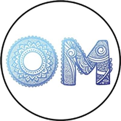 "Pretty Blue Ombre Zen Yogi Yoga Peace Symbol Cartoon Vinyl Decal Sticker (4"" Tall, Om): Arts, Crafts & Sewing"