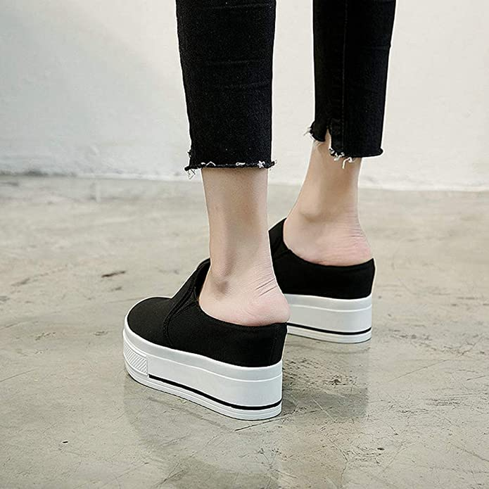 NOMIMAS Sneakers Women Wedges Breathable Travel Platform High Top Slip-On Comfortable Fashion Outdoors Casual Shoes