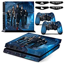 PrideCroatia PS4 Skin Sticker Full Cover For Sony Playstation 4 Console&Wireless Controller with 4 LED Bars Final Fantasy XV
