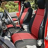 Rugged Ridge 13296.53 Black Seat Cover Kit, Red; 2011-2018 Jeep Wrangler JK, 2 Door, 2 Pack